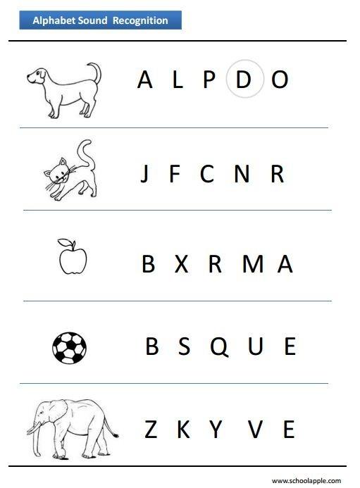 Number Recognition Worksheets Alphabet Recognition Worksheet