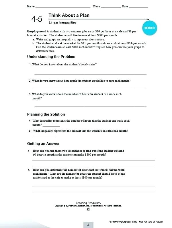 Pearson Education Math Worksheets Answers Answers To 4th Grade