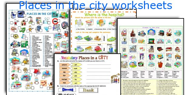 Places In The City Worksheets