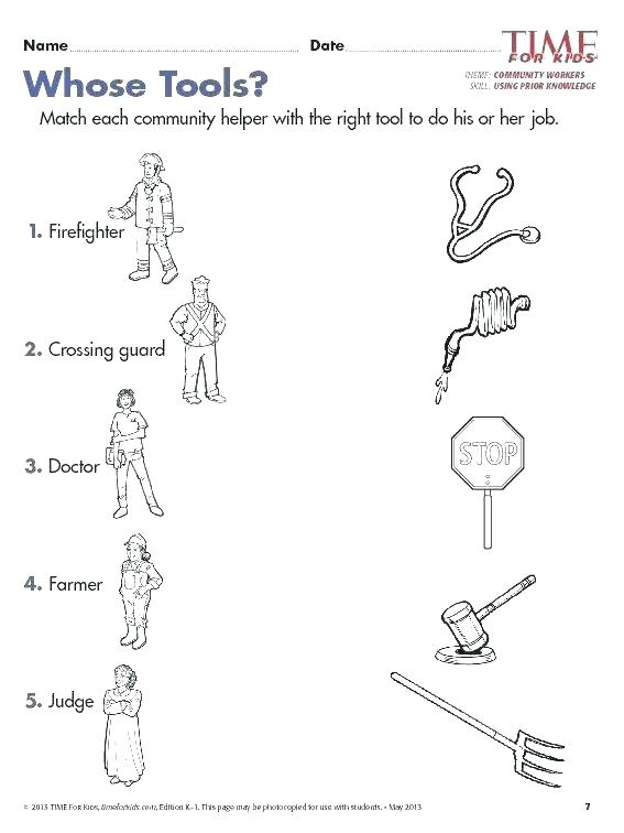 Places In The Community Worksheets