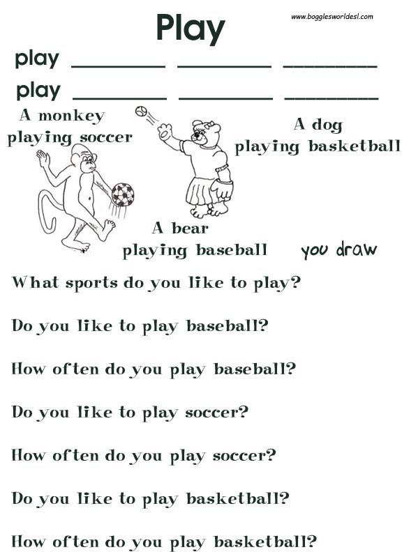 Verb Young Learners Worksheets