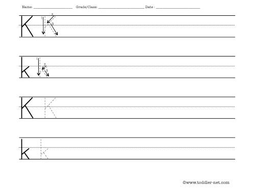 Pre Kindergarten Writing Worksheets Free Printable Letter K Maggib