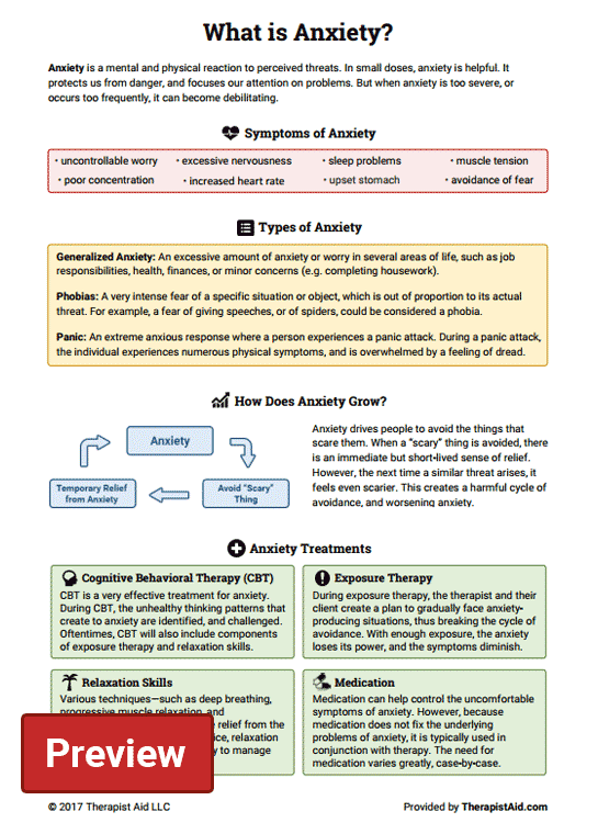 What Is Anxiety  (worksheet)