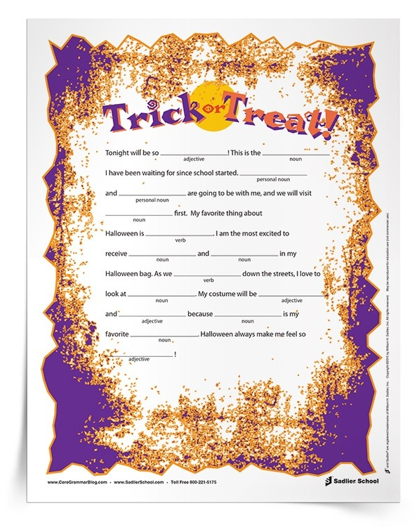 Printable Halloween Worksheets For Middle School