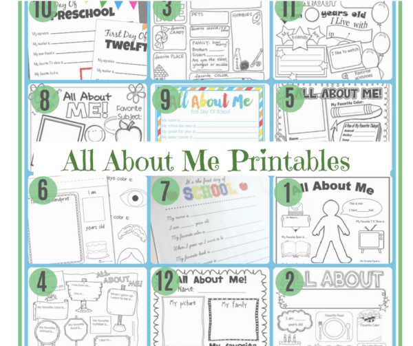 All About Me Worksheets} 11 Free Printables Introduce Your Child