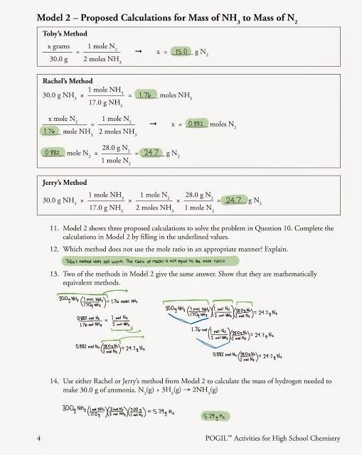 Mole Ratio Worksheet Answers