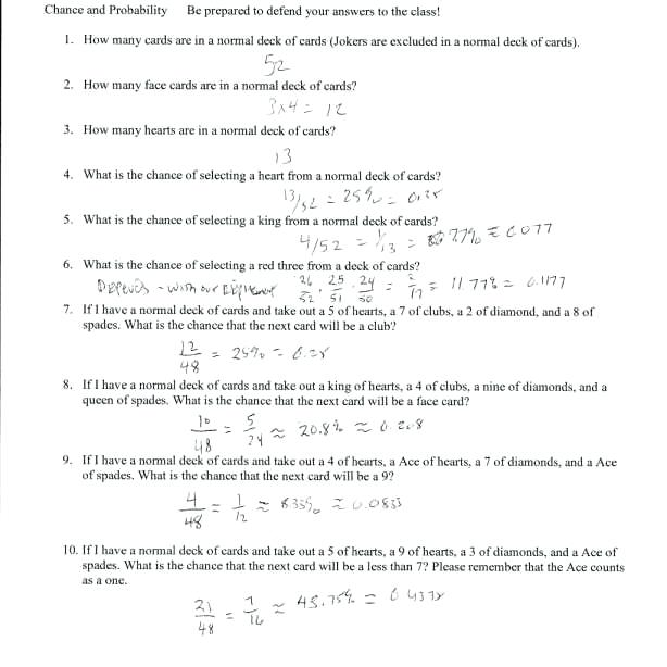 Probability Of Independent Events Worksheet Probability Of Simple