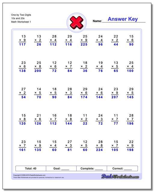Rocket Math Multiplication Worksheets 844 Multiplication