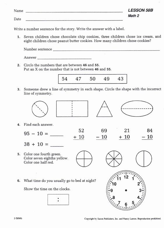 Saxon Math Worksheets 5th Grade