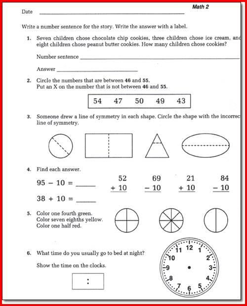 Saxon Math Worksheets 1st Grade