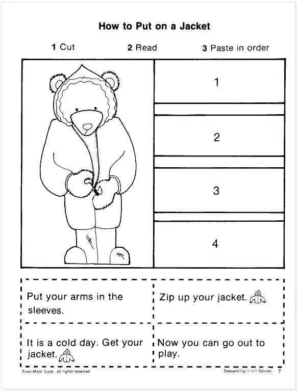 Sequencing Worksheets Kindergarten Sequence Of Events Grade Free