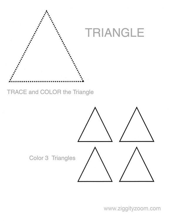 Triangle Shape Activity Triangle Worksheet Preschool Luxury First