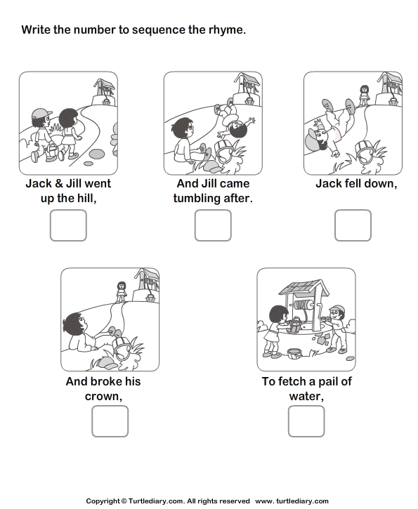 Story Sequencing Jack And Jill Worksheet
