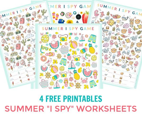 Summer I Spy Printable Game Sheets