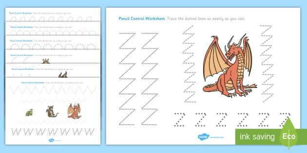 How To Train Your Dragon Pencil Control Worksheets