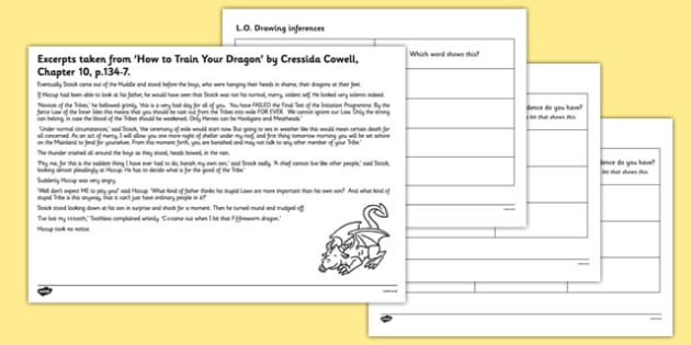 How To Train Your Dragon Inferences Worksheet   Worksheet