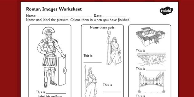 Roman Images Labelling Worksheet