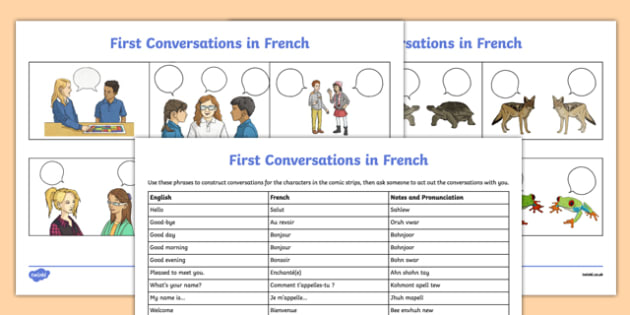 French Greetings Worksheet   Worksheet