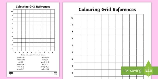 Colouring Grid References Worksheet