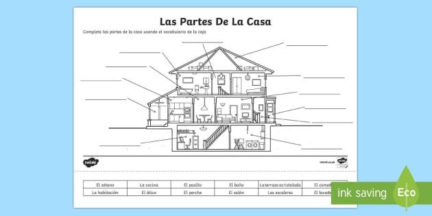 Spanish Parts Of A House Worksheet   Worksheet , Worksheet