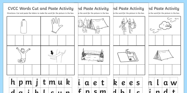 Cvcc Cut And Paste Worksheet