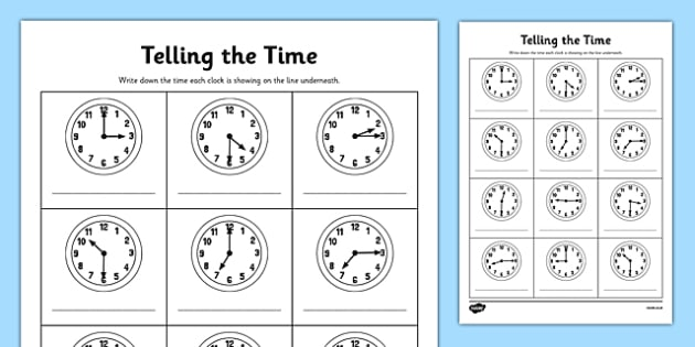 O'clock, Half Past And Quarter Past To Times Worksheet   Worksheet