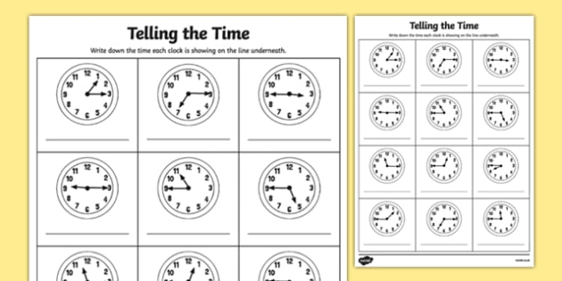 Quarter Past And Quarter To Times Worksheet   Worksheet