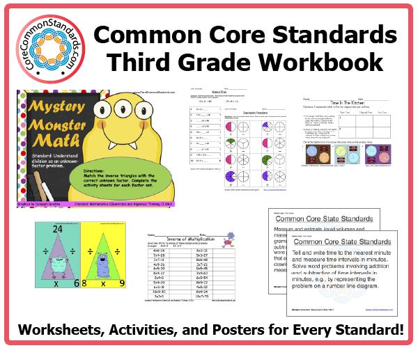 Third Grade Common Core Workbook Usb