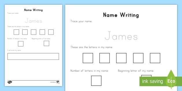 Editable Name Writing Practice Worksheet   Worksheet