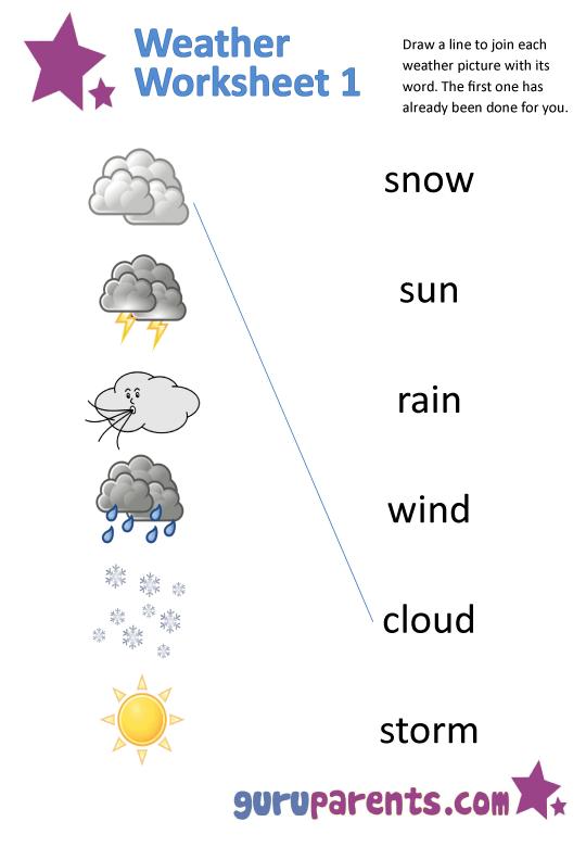 Printables  Weather Worksheets For Preschool  Lemonlilyfestival