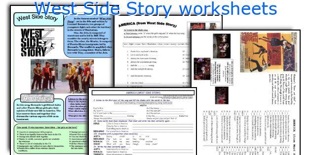West Side Story Worksheets