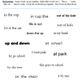 Easy Preposition Worksheets