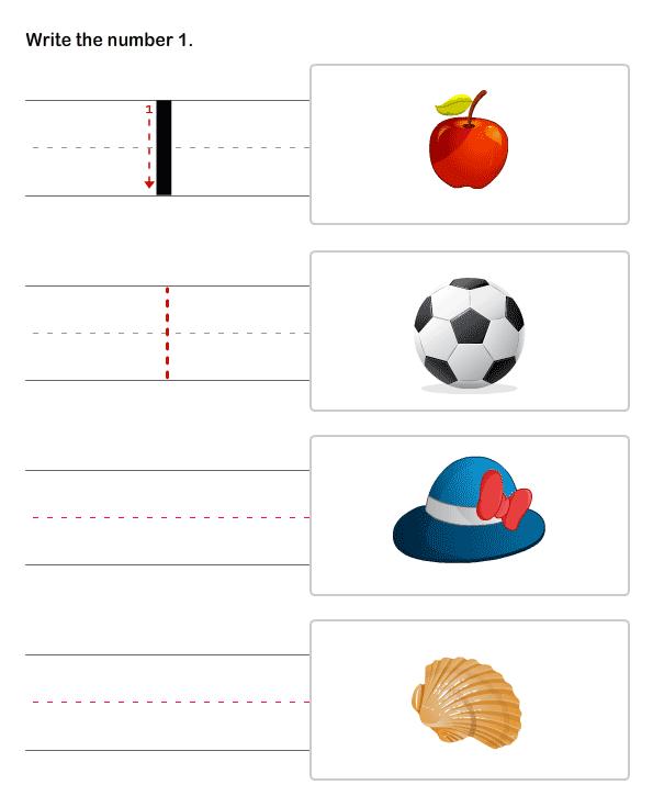 Learn To Write Numbers , Kindergarten Worksheet
