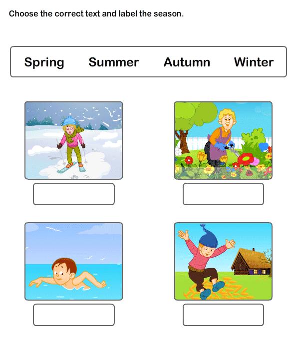 Free Worksheets On Seasons