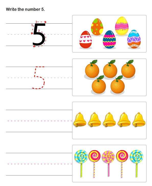 Kindergarten Number Worksheets , Number Writing Practice Sheets