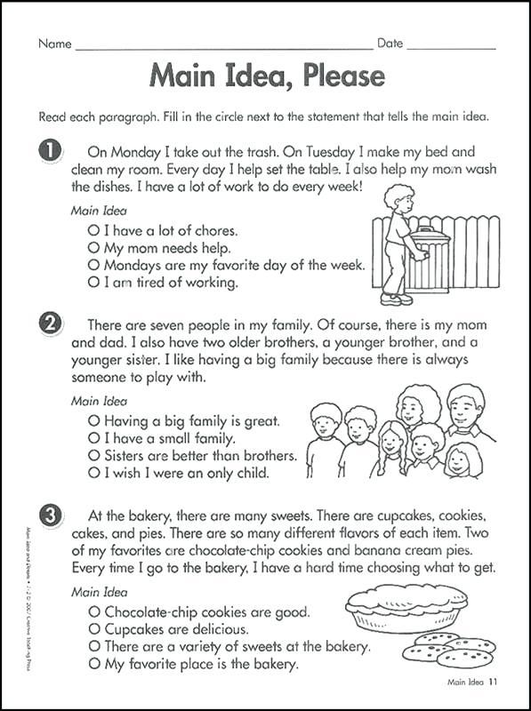 Worksheet For 3rd Grade Main Idea Worksheets 3rd Grade Main Idea