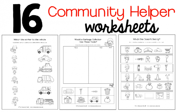 New! Community Helpers Theme Pack!