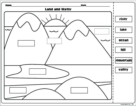 Free Printable Landform Worksheets – Lacuponera