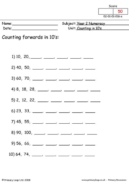 Counting In 10s (1)