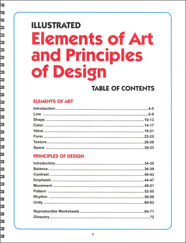 Illustrated Elements Of Art And Principles Of Design (037440