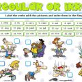 Regular And Irregular Verbs Worksheets