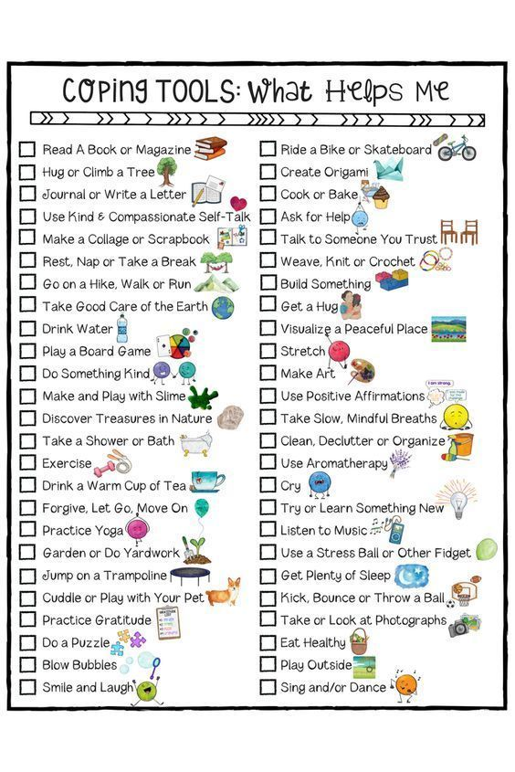 Coping Skills For Kids Checklist  A Fun School Counseling