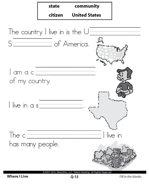 Social Studies Worksheets For 3rd Grade