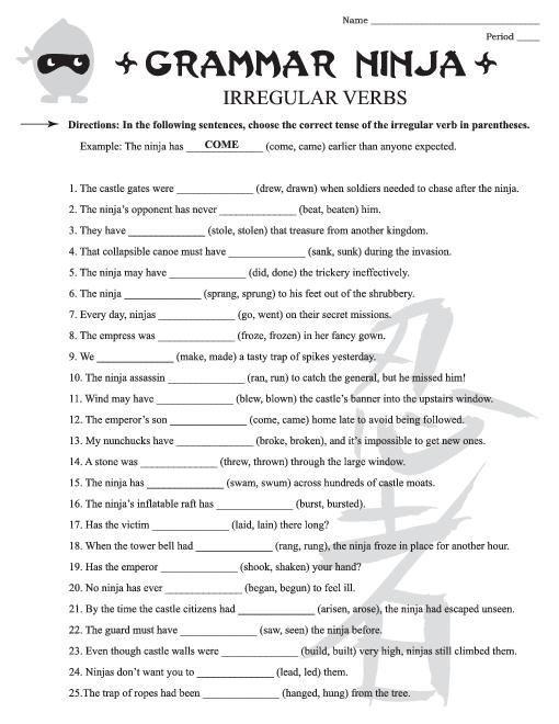 Free Grammar Worksheets 6th Grade Worksheets Samples