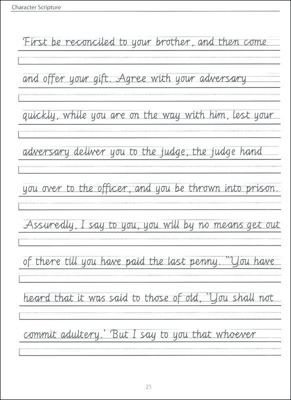 4th Grade Handwriting Worksheets Writing Grade Cursive Writing