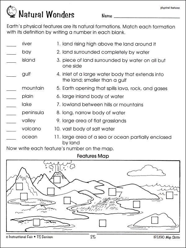 Worksheet Map Skills Worksheets 3rd Grade Free Map Skills