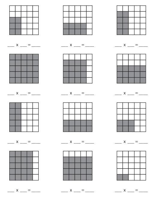 Blank Multiplication Arrays