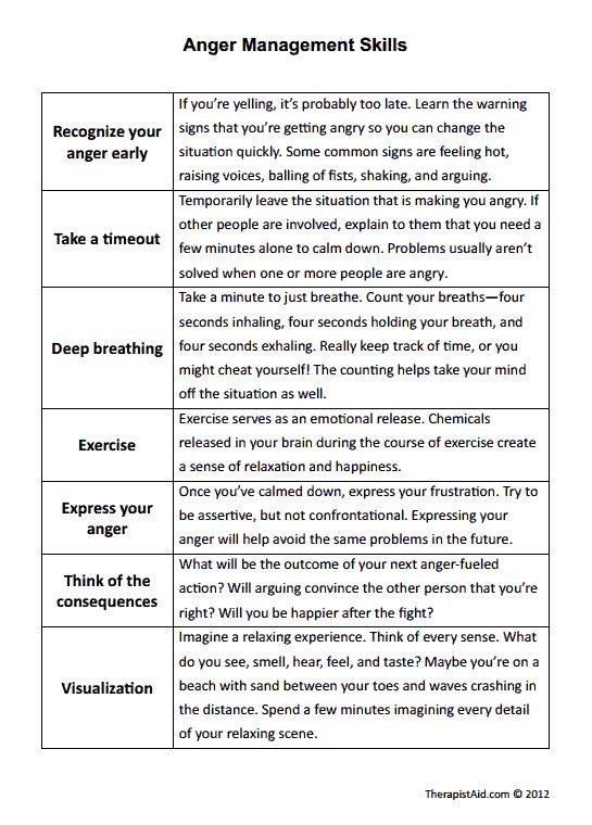 Image Result For Counseling Worksheet Anger