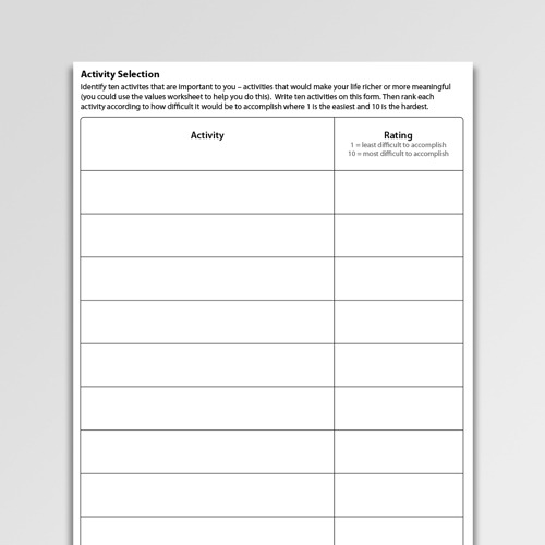 Bipolar Disorder (manic Depression) Worksheets
