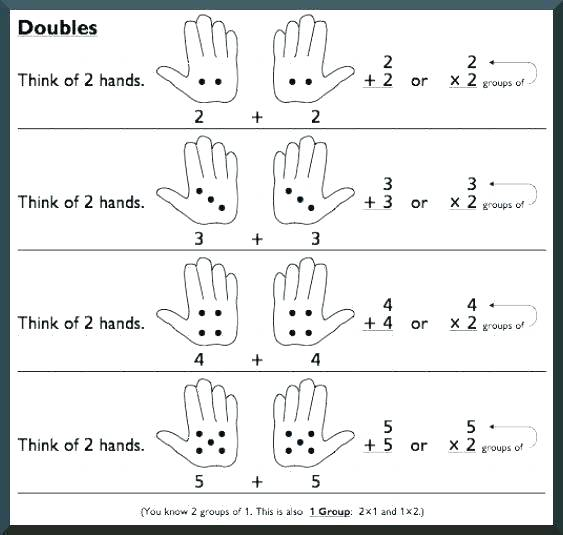 Adding Doubles Worksheets Multiplying Doubles Up To By Adding
